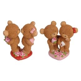 Dekorácia Valentín medvedíky 15 cm