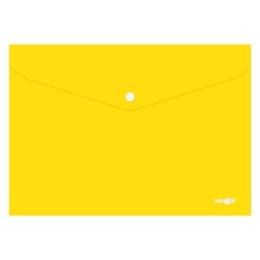 Obal s patentkou PP/A4, žltý