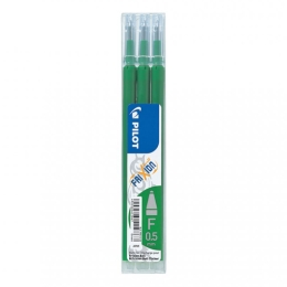 Pilot Frixion Erasable Gel Ink Refill 3 Pack Green
