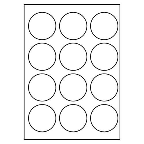 Etikety PRINT A4/100 ks, kruhové 60 - 12 etikiet, biele