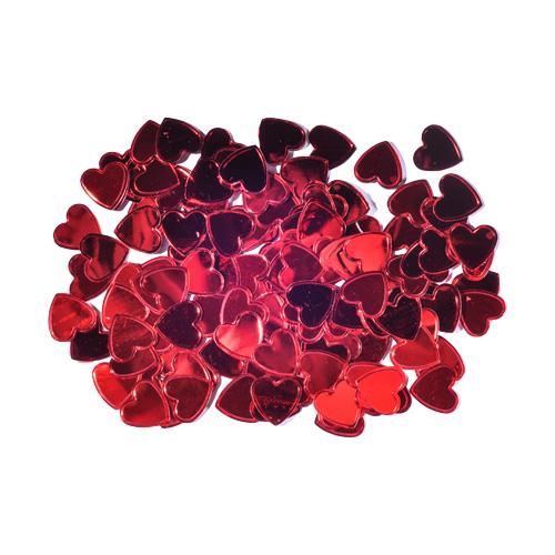 Dekorácia srdcia červené 15 mm/14 g