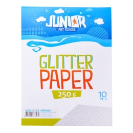 Dekoračný papier A4 10 ks strieborný glitter 250 g