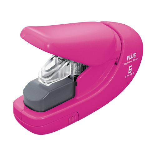 Zošívačka PLUS Paper Clinch mini SL-106AB (na 6 listov), ružová