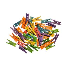 Dekoračné štipce mix farieb, 40 ks