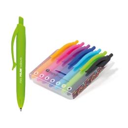 Pero guľôčkové MILAN P1 Mini Touch Colours, sada 7 ks
