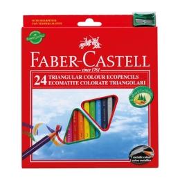 Pastelky Faber-Castell set 24 farieb so strúhadlom