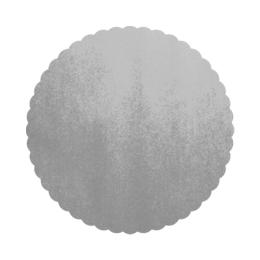 Podložky lepenkové 36 cm - strieborné, 50 ks