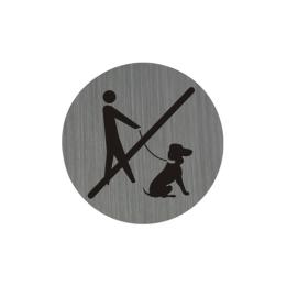Piktogram 7,5 cm - Zákaz vstupu so psom