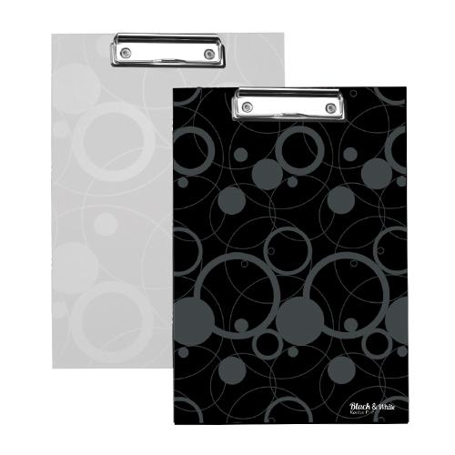 Podložka na písanie s klipom A4, biela (Black&White)