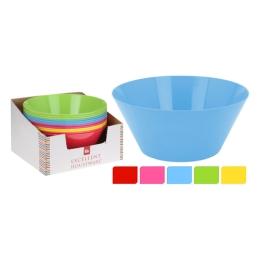 Misa - šalátová/plastová 25x11 cm, mix farieb, 1ks