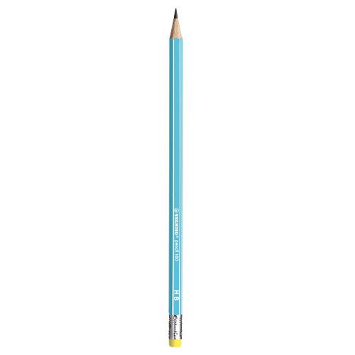 Ceruzka grafitová HB STABILO s gumou - sv. modrá