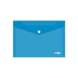 Obal s patentkou PP/A5, priehľadný/modrý