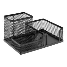 Drôtený organizér stolový, čierny