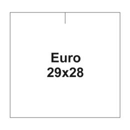 Etikety cen. EURO 29x28 hranaté - 700 etikiet/kotúčik, biele