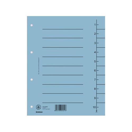 Rozraďovač kartónový A4 modrý
