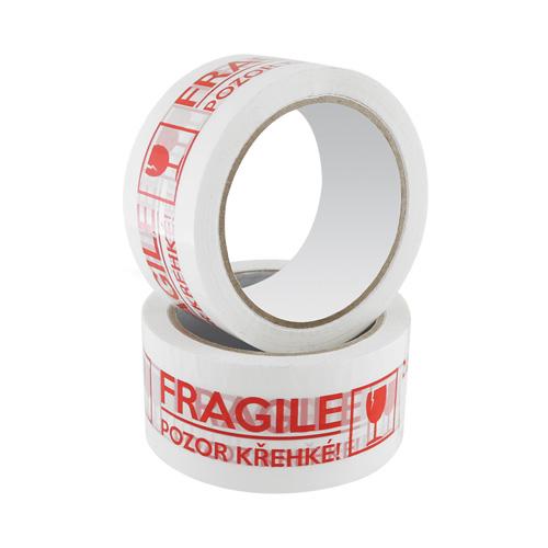Lepiaca páska nehlučná s potlačou Fragile/Krehké, 48 mm x 66 m