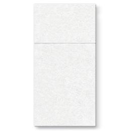Vrecká na príbory PAW AIRLAID 40x40cm Unicolor White, 25 ks/bal