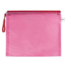 Sieťovaná obálka so zipsom PVC/A4, červená