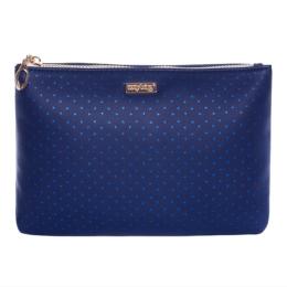 Kozmetická taška Blue Triangles - plochá
