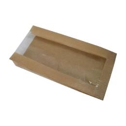 Pap. vrecká s okienkom - chlieb (22+5 x 34 cm, ok.14 cm) / 1000 ks