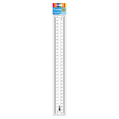 Pravítko JUNIOR 30 cm, transparentné