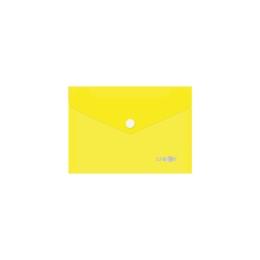Obal s patentkou PP/A6, priehľadný/žltý
