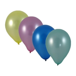 "Balóny nafukovacie metalíza mix ""M"" (100 ks)"
