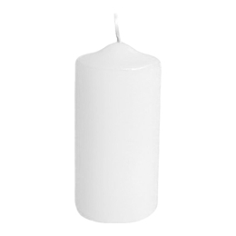 Sviečka valcová 40 x 80 mm, biela (4 ks v bal.)