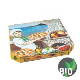 Krabica na pizzu z vlnitej lepenky 33x33x3 cm, 100 ks