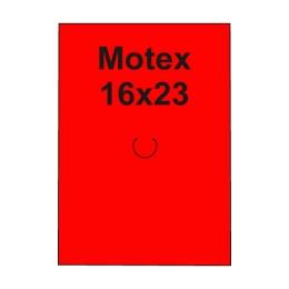 Etikety cen. MOTEX 16x23 hranaté, 870 etikiet/kotúčik, červené