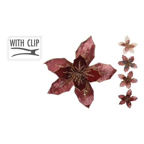 Kvet na klipe 25 cm - mix/1ks