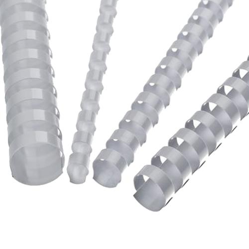 Hrebene plastové 22 mm biele