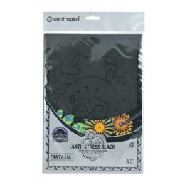 Antistresové omaľovánky CENTROPEN 9997 Fantasia čierne