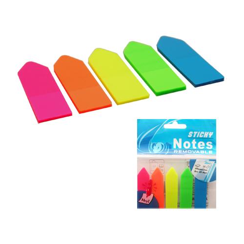 Blok lep NEON záložka PVC 5 x 25 listov