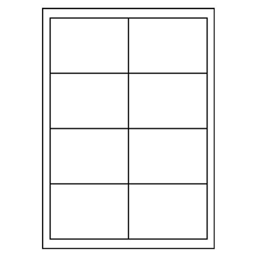 Etikety PRINT A4/100 ks, 96,5x67,7 - 8 etikiet, biele