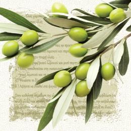 Obrúsky PAW L 33x33cm Greek Olives