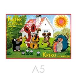 Omaľovánka A5 Akim - Krtko sa raduje