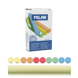 Krieda MILAN guľatá farebná 10ks znížená prašnosť