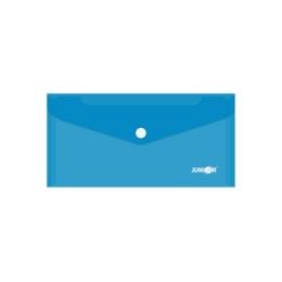 Obal s patentkou PP/DL, priehľadný/modrý