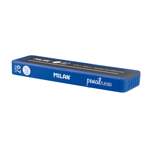 Grafitové tuhy MILAN 2B/0,7 mm, 12 ks