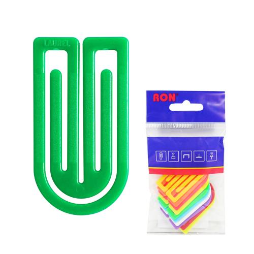 Listové spony plastové 633, oblá, 50 mm (10ks)