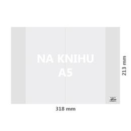 Obal na knihu A5 PVC 318x213 mm, hrubý/transparentný, 1 ks