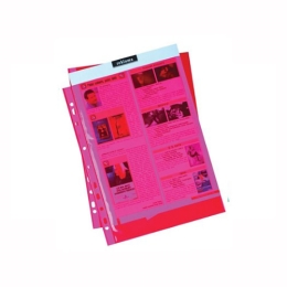 Euroobal A4 50 µm farebný - červený,  lesklý 100 ks