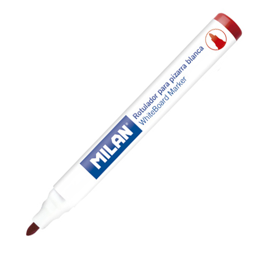 Popisovač MILAN Whiteboard Marker 4,7 mm, červený