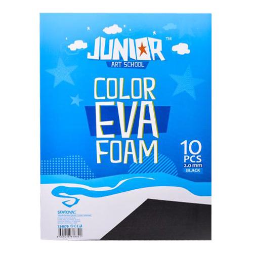 Dekoračná pena A4 EVA čierna 2,0 mm, sada 10 ks