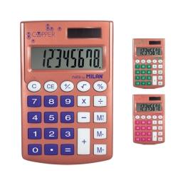 Kalkulačka MILAN vrecková 8-miestna Copper