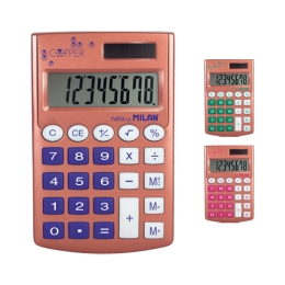 Kalkulačka MILAN vrecková 8-miestna Pocket Copper