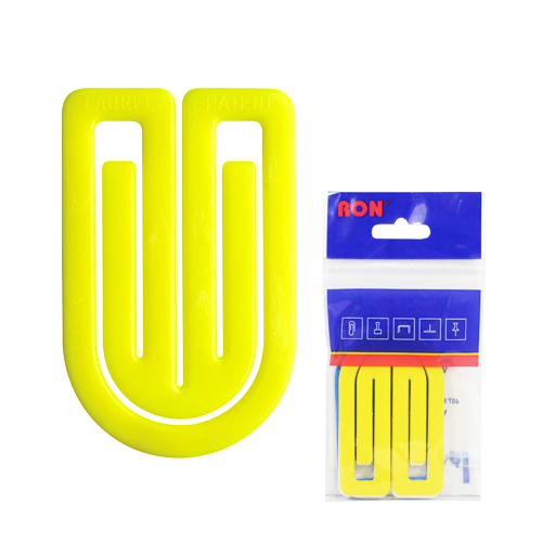 Listové spony plastové 634, oblá, 75 mm (3ks)