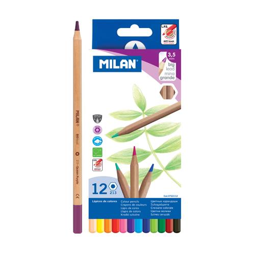 Pastelky MILAN šesťhranné 3.3 mm / 12 ks