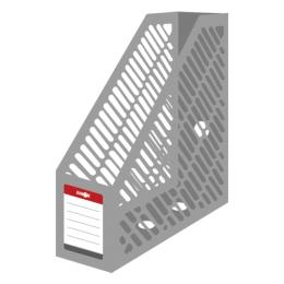 Stojan na časopisy A4 JUNIOR - plastový/šedý